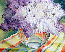 Lilac Fragance, Lilac Bouquet by Terrece Beesley (Watercolor Painting)