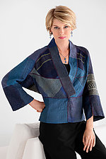 Dolman Sleeve Patched Kantha Jacket by Mieko Mintz  (Cotton Jacket)