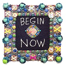 Begin Now by Therese May (Fiber Wall Art)
