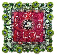 Go With The Flow by Therese May (Fiber Wall Art)