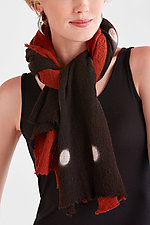 Wool Shibori Scarf: Dots by Laura Hunter  (Wool Scarf)