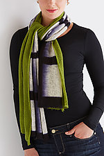Wool Shibori Scarf: Lines by Laura Hunter  (Wool Scarf)