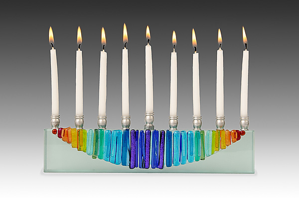 Rainbow Moon Menorah Icicle collection