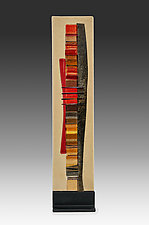 Early Fall Waterfall II by Alicia Kelemen (Art Glass Sculpture)
