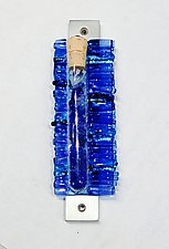 Light Blue Wedding Mezuzah I by Alicia Kelemen (Art Glass Mezuzah)