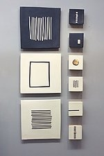 Black and White by Lori Katz (Ceramic Wall Sculpture)