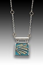 Pinwheel Necklace by Eileen Sutton (Gold, Silver, & Resin Necklace)