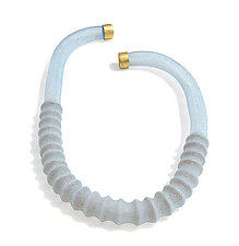 Translucence Necklace in Light Blue by Michal Lando (Nylon Necklace)