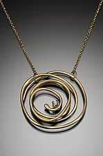 Abstract Chaos Large Pendant by Kennedi Milan (Gold Necklace)