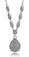 Silver Drusy Statement Necklace by Jodi Brownstein (Silver Necklace)