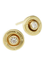 18k and Diamond Brita Stud Earrings by Jodi Brownstein (Gold & Stone Earrings)
