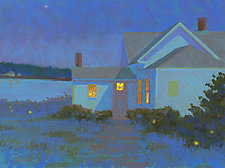 Moonlight and Fireflies by Suzanne Siegel (Giclee Print)
