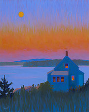 Moonrise, Stonington III by Suzanne Siegel (Giclee Print)