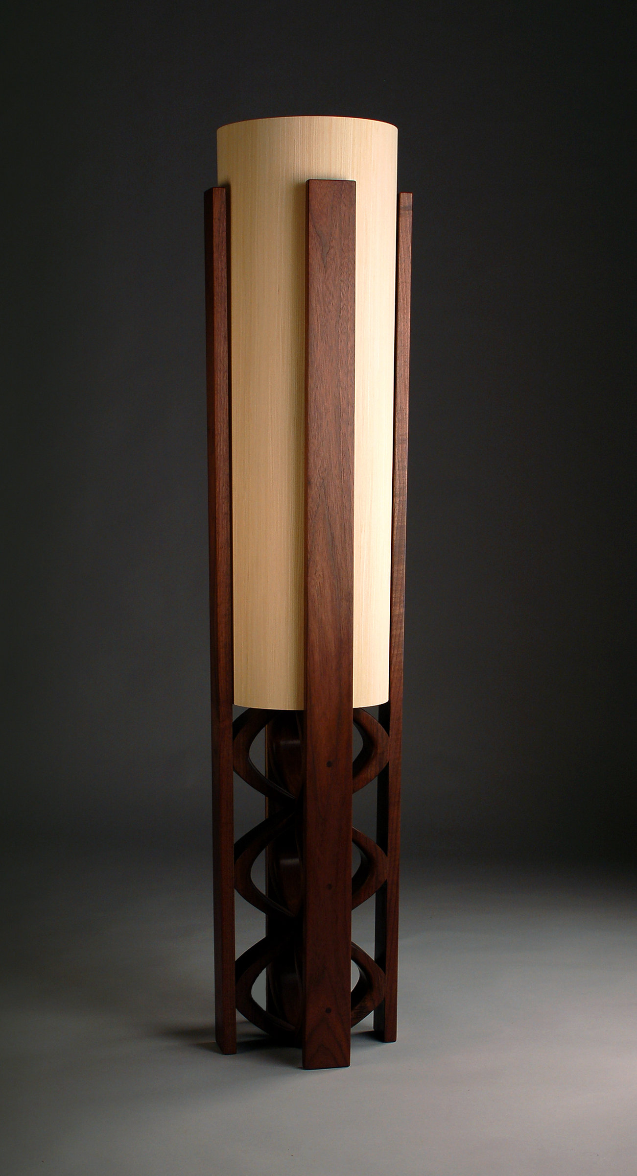 Galene by kyle dallman wood floor lamp artful home Wood floor lamp