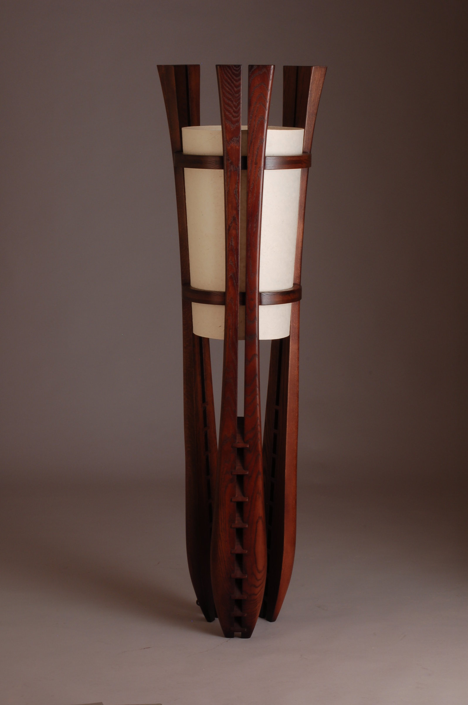 Louver lamp by kyle dallman wood floor lamp artful home for Used wood floor lamp