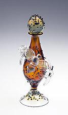 Bee Bottle by Loy Allen (Art Glass Perfume Bottle)