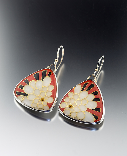 Art Deco Petal Earrings