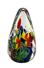 Coral Reef Egg by Mayauel Ward (Art Glass Paperweight)