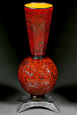 Crimson King Lamp by Eric Bladholm (Art Glass Table Lamp)