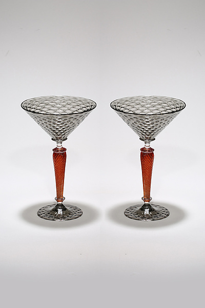 Gray and Red Martini Set