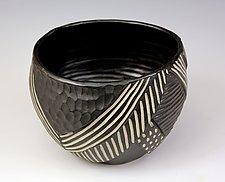 Layered Chevron Bowl by Larry Halvorsen (Ceramic Bowl)