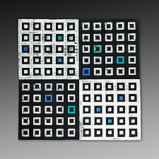 XOYO Squares Tile by Marek Jacisin (Ceramic Wall Sculpture)