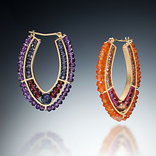 Gemstone Hoops by Susan Kinzig (Beaded Earrings)