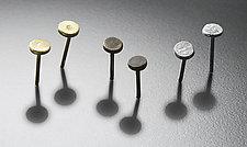 Dot Earrings by Randi Chervitz (Gold or Silver Earrings)