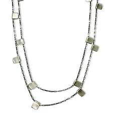 Sterling Silver Tab Chain by Alice Roche (Silver Necklace)