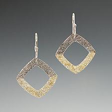 Gold Dust Square Earrings by Dean Turner (Gold & Silver Earrings)