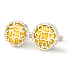 Geometric Cuff Links by Victoria Varga (Gold & Silver Cuff Links)