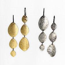 Brigid Triple Shield Earrings by Heather Perry (Silver or Brass Earrings)