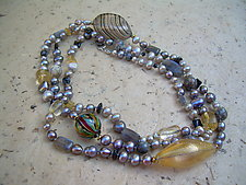 Gray Skies - Long Single by Diana Lovett (Beaded Necklace)