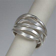 Leaf Stacking Rings by Susan Panciera (Silver Rings)