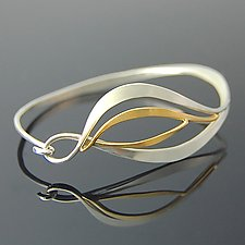 Forged Leaf Bracelet by Susan Panciera (Gold & Silver Bracelet)