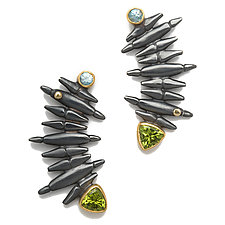 Grand Staircase Earrings by Alison Antelman (Silver & Stone Earrings)