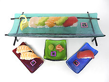 Rainbow Sushi Set by Karen Ehart (Art Glass Sushi Set)