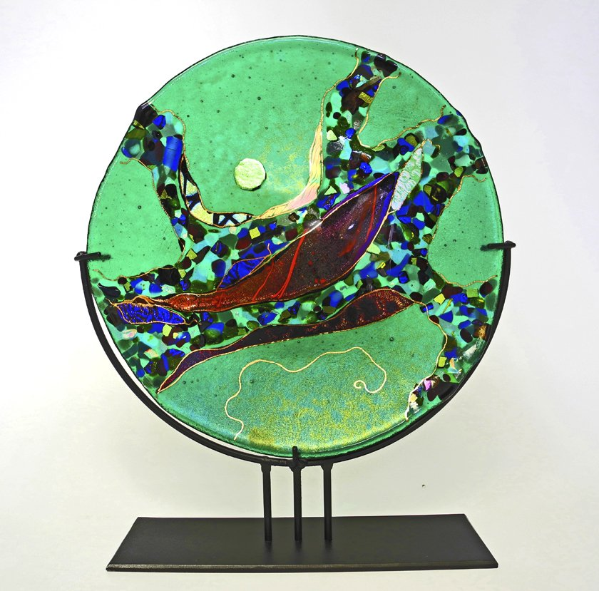 Emerald Moon By Karen Ehart Art Glass Sculpture Artful