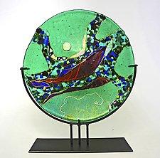 Emerald Moon by Karen Ehart (Art Glass Sculpture)