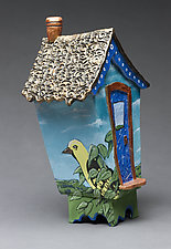 Bird House Box by Byron Williamson (Ceramic Sculpture)