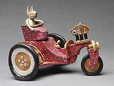 Carrot Farmer by Byron Williamson (Ceramic Sculpture)