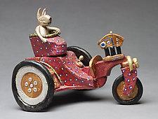 Carrot Farmer by Byron Williamson (Ceramic Sculpture)