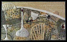 Very Neutral Still Life by Pamela Allen (Fiber Wall Art)