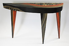 Dark River French Curve Console by Ingela Noren and Daniel  Grant (Wood Console Table)