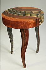 Tiger River Round Table by Ingela Noren and Daniel  Grant (Wood Side Table)