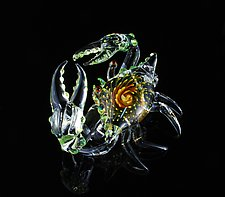 Jewel Series Crab by Jeremy Sinkus (Art Glass Sculpture)