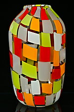 Cherry Mango Murrini Vase by Michael Egan (Art Glass Vase)