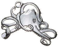 Octopus Pin by Alexan Cerna (Silver Pin)