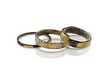 Jungle Fever Stacking Rings by Nancy Troske (Gold & Silver Ring)