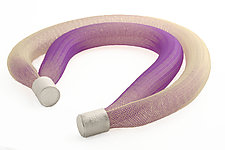 Ovulo Necklace Purple by Michal Lando (Nylon & Silver Necklace)